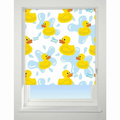 Universal Patterned Blackout Roller Blind - Quack Quack